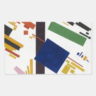 Suprematist Zusammensetzung durch Kazimir Malevich Rechteckiger Aufkleber