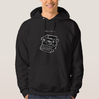 Sure. I Text. Weinlese Hoodie