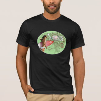 Surf-Chick_Oval_mintbrushes T-Shirt