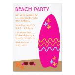 Surfbrett-Strand-Party Einladungen