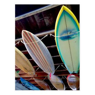 Surfbretter Postkarte