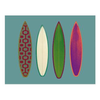 Surfbretter ~ surfende Art Postkarten