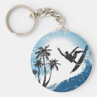 Surfen auf das Wellen keychain Schlüsselanhänger
