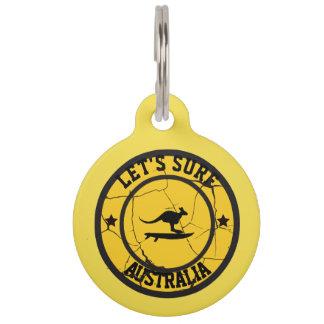 Surfen in Australien Haustiermarke