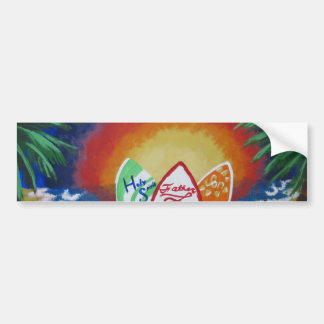 Surfen mit dem Lord Autoaufkleber