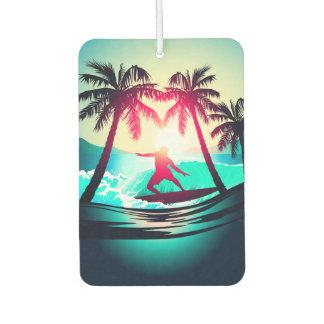 Surfen mit Palmen Lufterfrischer