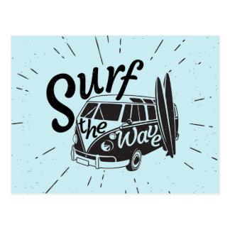 Surfen Sie die Welle Postkarte