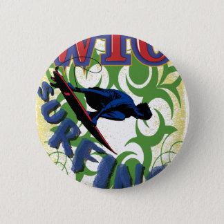 Surfen Stammes- Runder Button 5,1 Cm