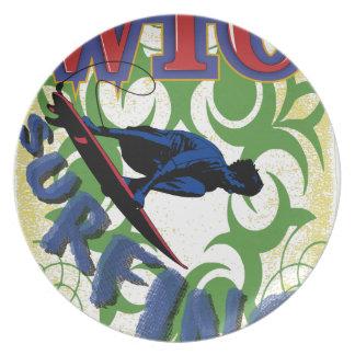 Surfen Stammes- Teller
