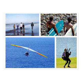Surfen und Gleitschirmfliegen, La Jolla, Postkarte