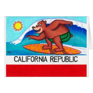 Surfende Bärn-Flagge Kaliforniens Karte