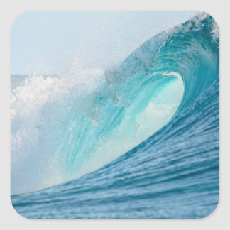 Surfende Fasswelle, die Aufkleber bricht