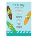 Surfende Meeresschildkröte-Babyparty oder Individuelle Einladungen