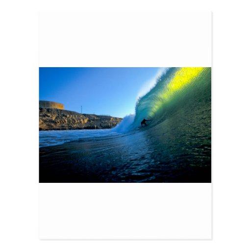 Surfender perfekter Welle Panik-Punkt Peru Postkarte