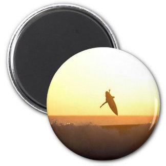 Surfender Sonnenuntergang Kuta Strandes Magnete