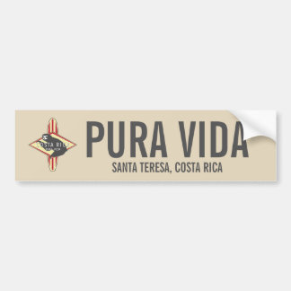Surfender Trägheit roter Pura Vida Costa Rica Autoaufkleber