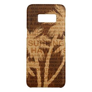 Surfendes Hawaii-Palme-Imitat-Holz tropisch Case-Mate Samsung Galaxy S8 Hülle