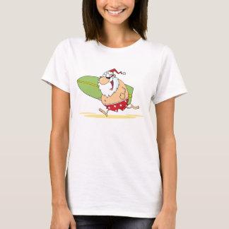 Surfendes Sankt-Shirt T-Shirt