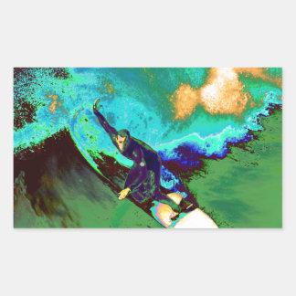 Surfer2 Rechteckiger Aufkleber