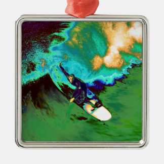 Surfer2 Silbernes Ornament
