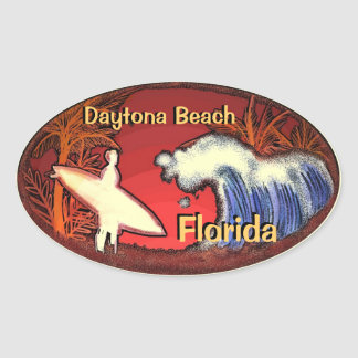 Surfer Daytona Beach Florida bewegt Aufkleber