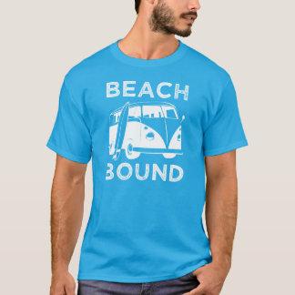 Surfer der Strand-verklemmten lustigen Männer das T-Shirt