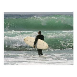 Surfer, die Sport surfen Postkarte