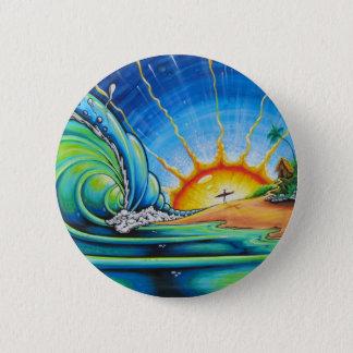 Surfer-Entwurf Runder Button 5,7 Cm