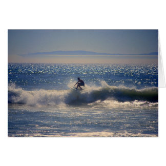 Surfer in Huntington Beach, Kalifornien, C grüßend Karte