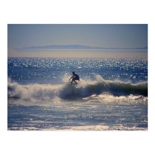 Surfer in Huntington Beach, Kalifornien Postkarte