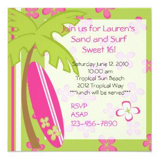 Surfer-Mädchen Einladungskarte