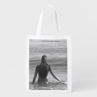 Surfer-Mädchen-Leinwand Wiederverwendbare Einkaufstasche