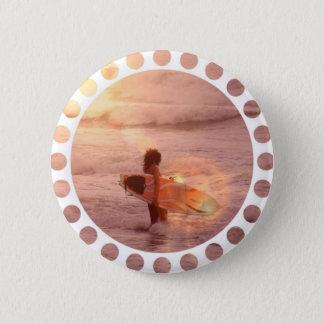Surfer-Mädchen-runder Knopf Runder Button 5,1 Cm