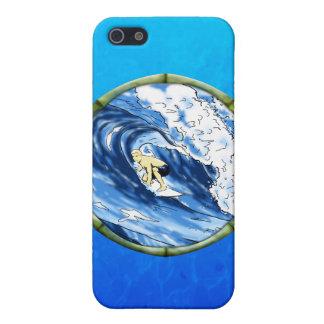 Surfer mit Bambusrahmen Etui Fürs iPhone 5