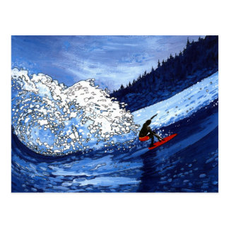 Surfer Postkarte