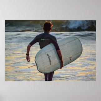 Surfer-Reihe - der drastische Held Poster