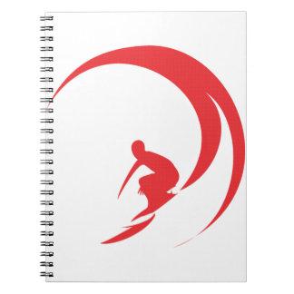 Surfer-Rot Notizblock