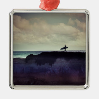 Surfer Silbernes Ornament