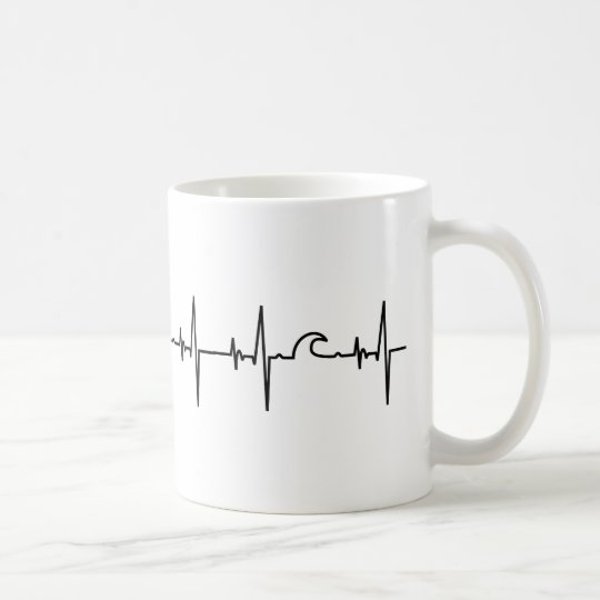 Surfer Tasse heartline