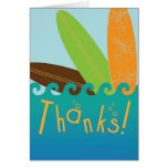 Surfer-Typ danken Ihnen zu kardieren Grußkarten