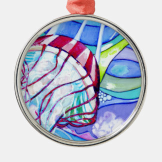 Surfin Gelee Silbernes Ornament