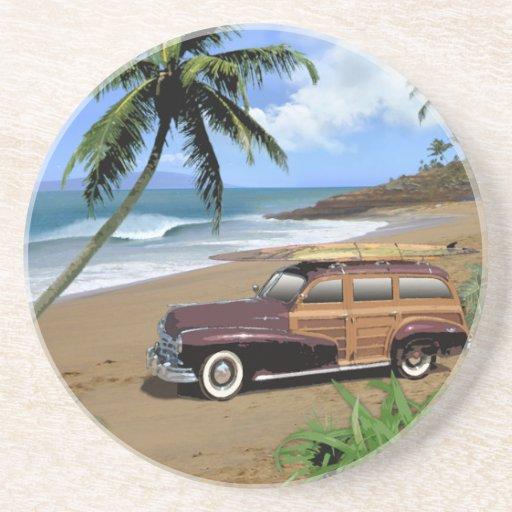 Surfin Hawaii Sandstein Untersetzer