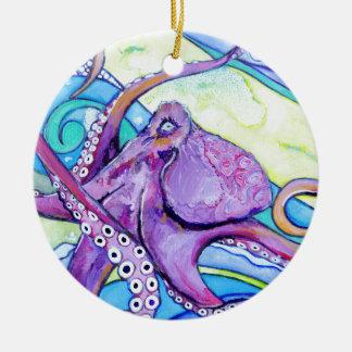 Surfin Krake Keramik Ornament