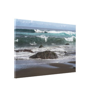 surfwellen leinwanddruck