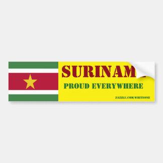 Surinam Autoaufkleber
