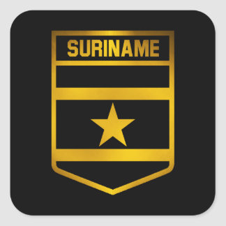 Surinam-Emblem Quadratischer Aufkleber