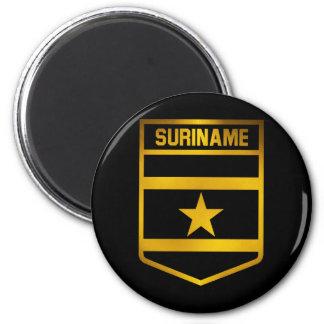 Surinam-Emblem Runder Magnet 5,7 Cm