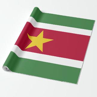 Surinam-Flagge Geschenkpapier