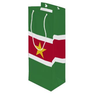 Surinam-Flagge Geschenktüte Für Weinflaschen