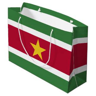 Surinam-Flagge Große Geschenktüte